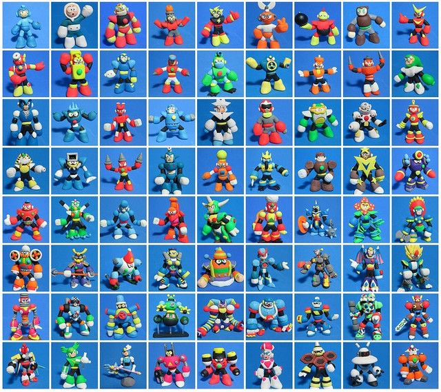 every mega man boss in clay form ign video games