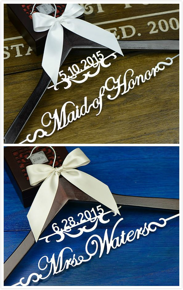 Personalized Wedding Hanger, Bride & Bridesmaid  dress Hanger, Wedding Gift EL002