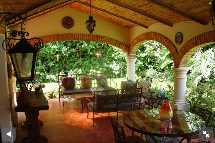 Haciendas mexicanas my kind of home n ideas pinterest for Mexican porch designs