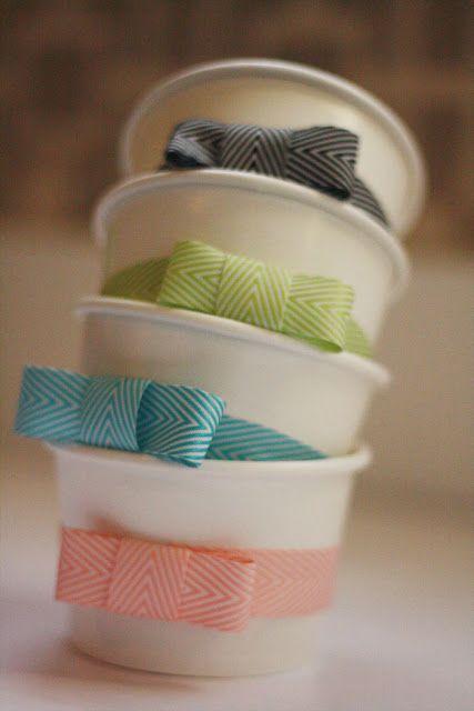 mnn potinhos de sorvete com lacinho