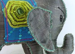 Sambhali Silk Elephant (Grey) was created by graduates of Sambhali Trust Women Empowerment Centre, Each elephant is unique in size, shape & colour and make a beautiful and thoughtful present for anyone, including yourself, while helping Women in India making a better life for themselves and their families... silversari.com - #silversari