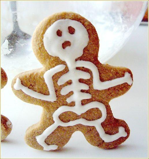 Biscuit squelette pour #Halloween