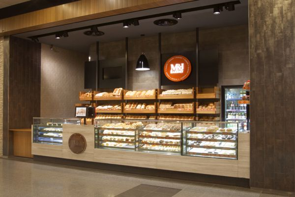 Mj bakery interior design branding by victoria for Bakery interior design