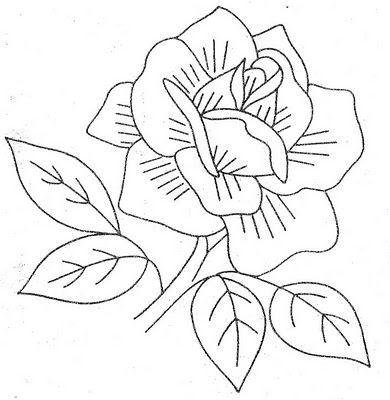 Vintage rose embroidery pattern