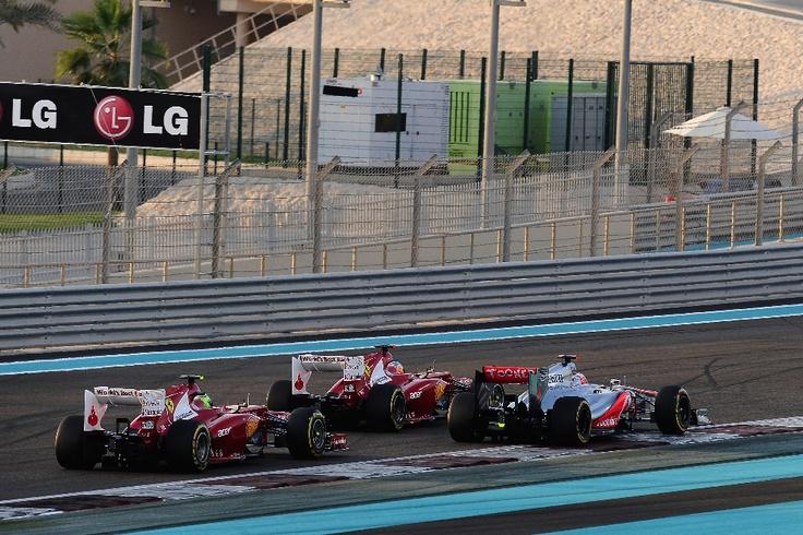 Grandísimo segundo puesto en Abu Dhabi y Fernando recorta tres puntos a Vettel #TodosConAlonsoHastaElFinal.