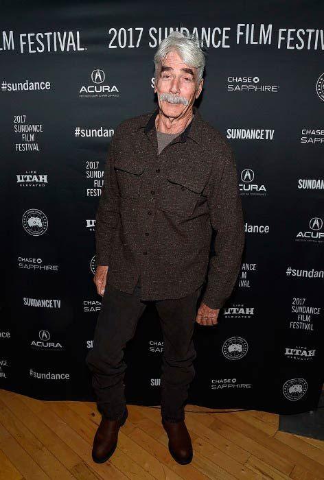 Sam Elliott at the Cinema Cafe event at the Sundance Film Festival in January 2017...
