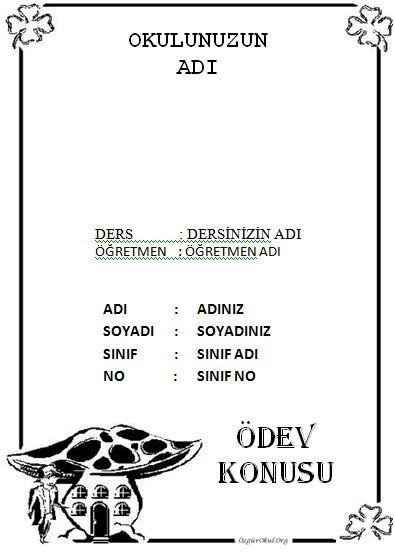 türkçe ödev kapakları siyah beyaz indir