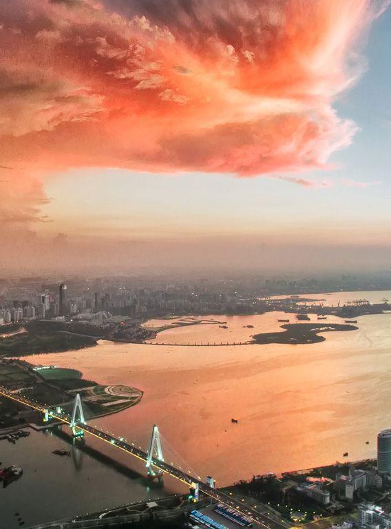 """""""City Sunset,"""" Haikou, China"""
