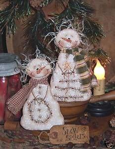 Patti'S Ratties Snow Doll Stitchery Ornies Pattern 377 | eBay