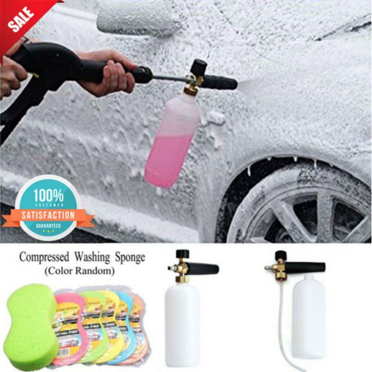 Car Wash Snow Foam Sprayer Lance Cannon Soap Bottle Jet Pressure Spray for Car #Dutiger