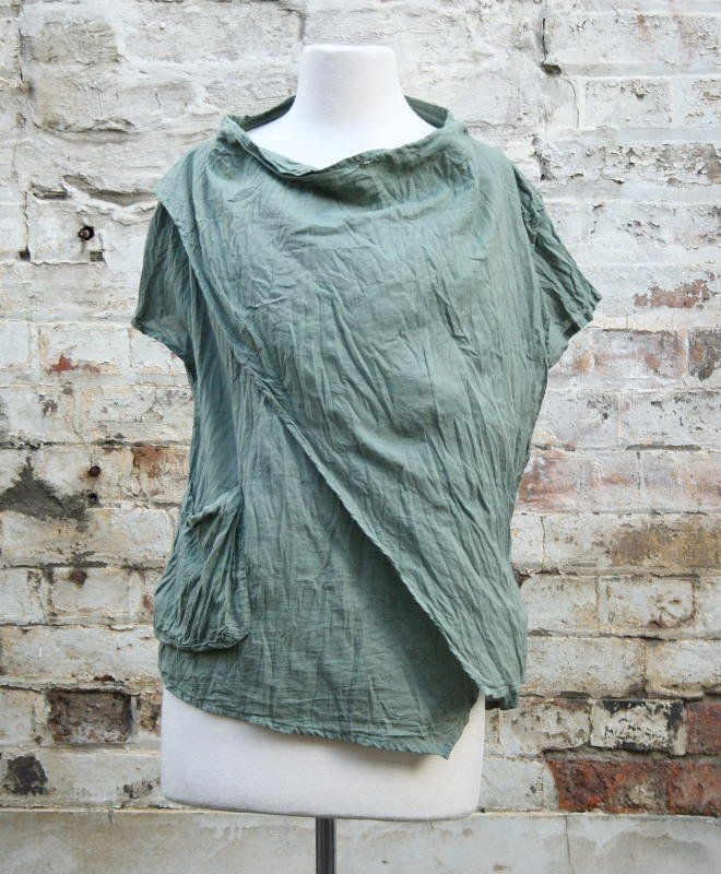 Ruched cowl neck top in army green   Women's Fashion   Dresses, Tops and more   Et La Mer
