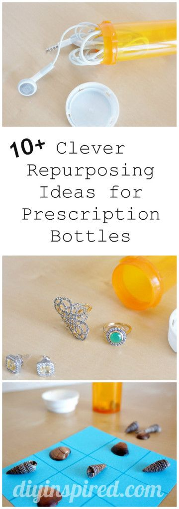 A Dozen Clever Repurposing Ideas for Prescription Bottles- Great for traveling
