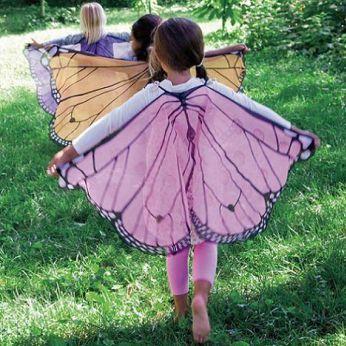 Disfraz de mariposa de primavera para niños