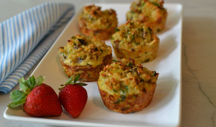 Quinoa, Mushroom, Leek muffins