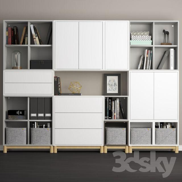 The Combination Of Cabinets With Legs Ikea Eket Ikea Eket Ikea Living Room Eket