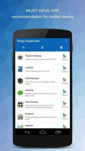 Kingo SuperUser [ROOT] v1.0.7 build 10071   Kingo SuperUser [ROOT] v1.0.7 build 10071Requirements:4.1Overview:[IMPORTANT] For Kingo SuperUser to work it requires a ROOTED device. If not please root your device first with Kingo Android Root (PC or APK version) or other methods you prefer.  Kingo SuperUser is a superuser access management tool for Android devices. After rooting your device you need an apk installed on your device to manage superuser access for applications that need root…