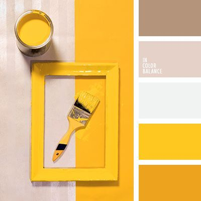 Color Palette No. 1989 - bright yellow color inspiration