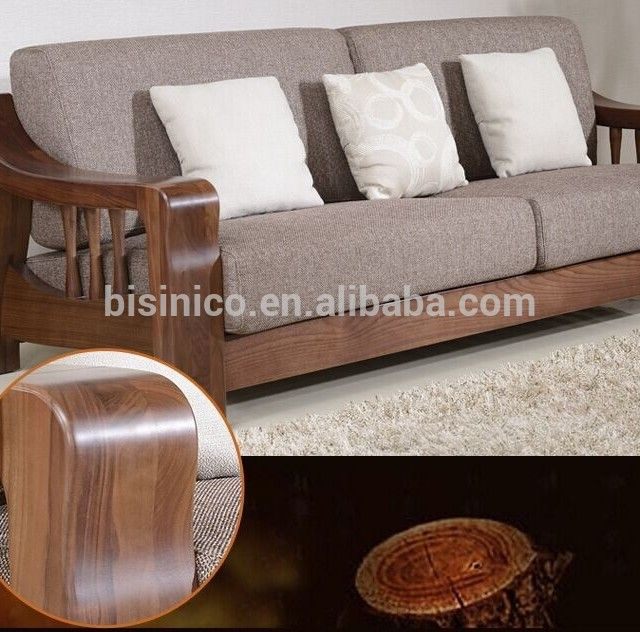 Source North American Black Walnut Wood Sofa Set High End Solid