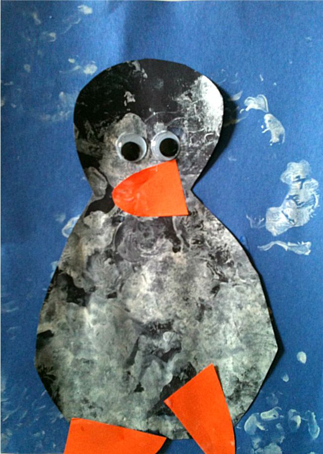 Simple Penguin Craft good for winter