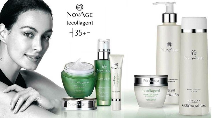 NovAge Ecollagen Oriflame косметика для лица 35+
