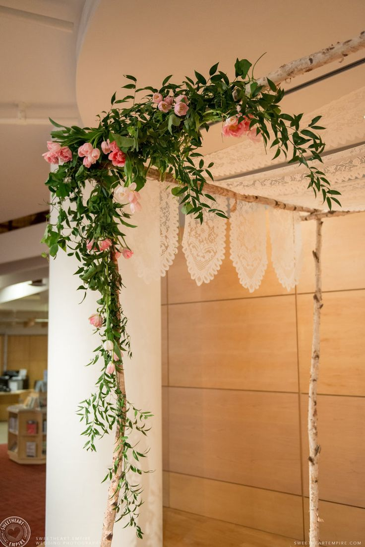 The Chuppah set up at the Toronto Reference Library - Wedding Photography #sweetheartempirephotography