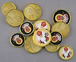 St. Nicholas coins- free to print, then glue on standard chocolate coins.