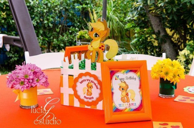 Table setting at a My Little Pony #mylittlepony #table