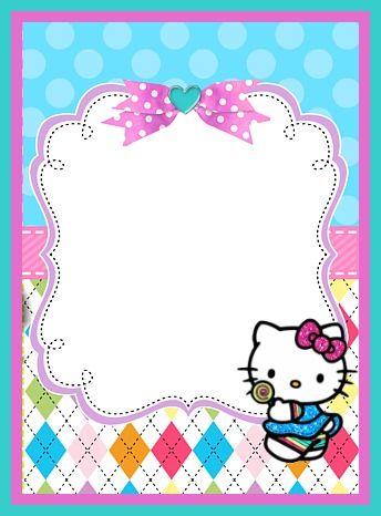 hello kitty   Cards, borders, frames...   Imprimir sobres ...
