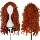 Movie Brave Princess Merida Wig Orange Long Curly Hair Cosplay Accessories Girls
