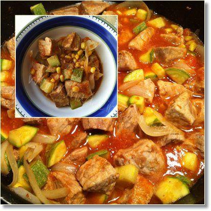 Carne de puerco con calabacitas / Nuevo León pork calabacitas- need to use translator recipe written in Spanish.