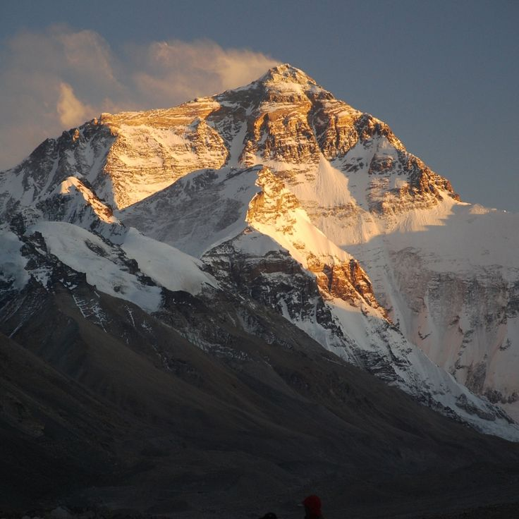 Mt Everest at sunset - photo taken from Rhombuk Monastery (the highest in the world), Tibet.