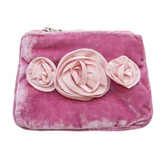 This coin purse is made of luxurious velvet and features our gorgeous handmade Rose Corsage design. With 100% parachute silk roses, this elegant little purse will easily fit your lipstick, cards, coins and has a zipped close to keep your precious items safe and stylish!