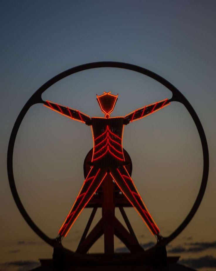 Artwork at Burning Man 2016, the largest outdoor arts festival  in North America, in the Black Rock desert of Gerlach, Nevada.