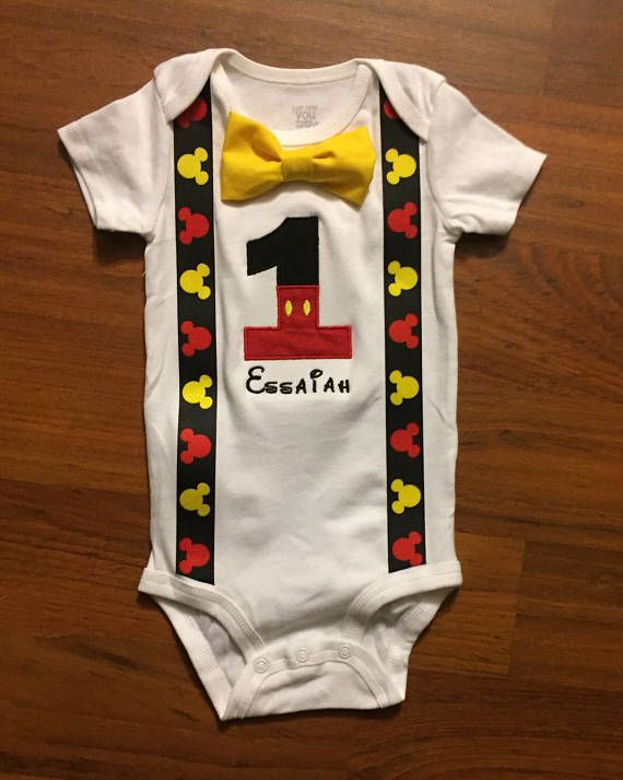 Mickey Mouse inspired 1st birthday boy outfit 1st birthday
