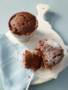 Kuchen mit Schokolade aus der Mikrowelle
