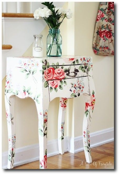 Fairytale Cottage Style Decoupage side table