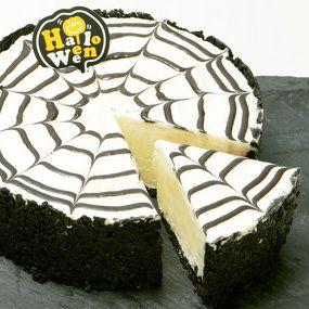 Spider cheese cake recipe ハロウィンのパーティーに並べれば、みんなびっくりするクモの巣模様のレアチーズケーキ。
