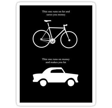 Bike V's Car Sticker