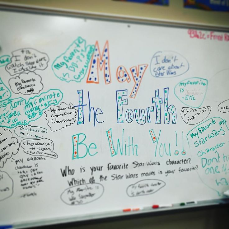 Yesterdays whiteboard! Some kids love Star Wars and some clearly don't…