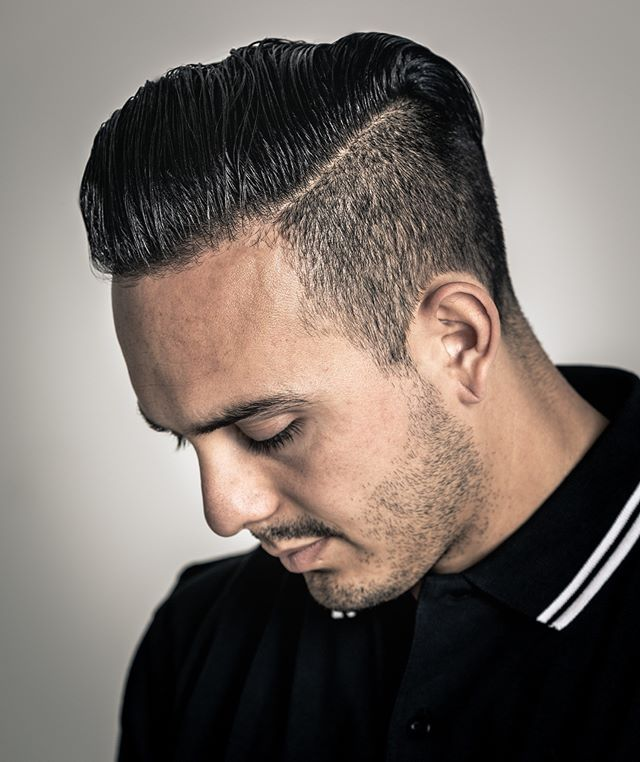 The Oil Based Pomade Gives You A Controlled Shiny And Neat Hairstyle For All Hair Types Suavecitopo White Boy Haircuts Men Hairstyle Names Hairstyle Names