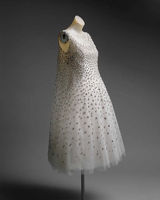 """!  House of Dior  (French, founded 1947). """"L'Eléphant Blanc."""" Yves Saint Laurent (French, 1936–2008). spring/summer 1958, French. The Metropolitan Museum of Art, New York. Gift of Bernice Chrysler Garbisch, 1977 (1977.329.5a, b): Fashion, Yves Saint Laurent, Christian Dior, Vintage, L Eléphant Blanc, Dresses, House, Metropolitan Museums, Spring Summ 1958"""