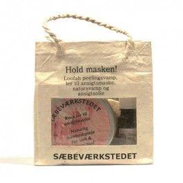 Sæbeværkstedet Gavepose Hold masken lilla ler #gaveidé #sæbeværkstedet