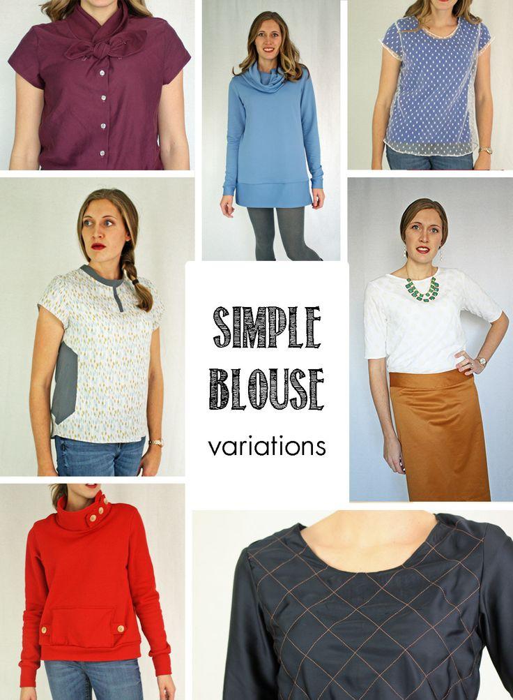 Famoso Easy Blouse Sewing Pattern Adorno - Manta de Tejer Patrón de ...
