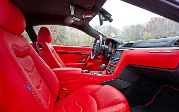 maserati red leather interior car interiors pinterest. Black Bedroom Furniture Sets. Home Design Ideas