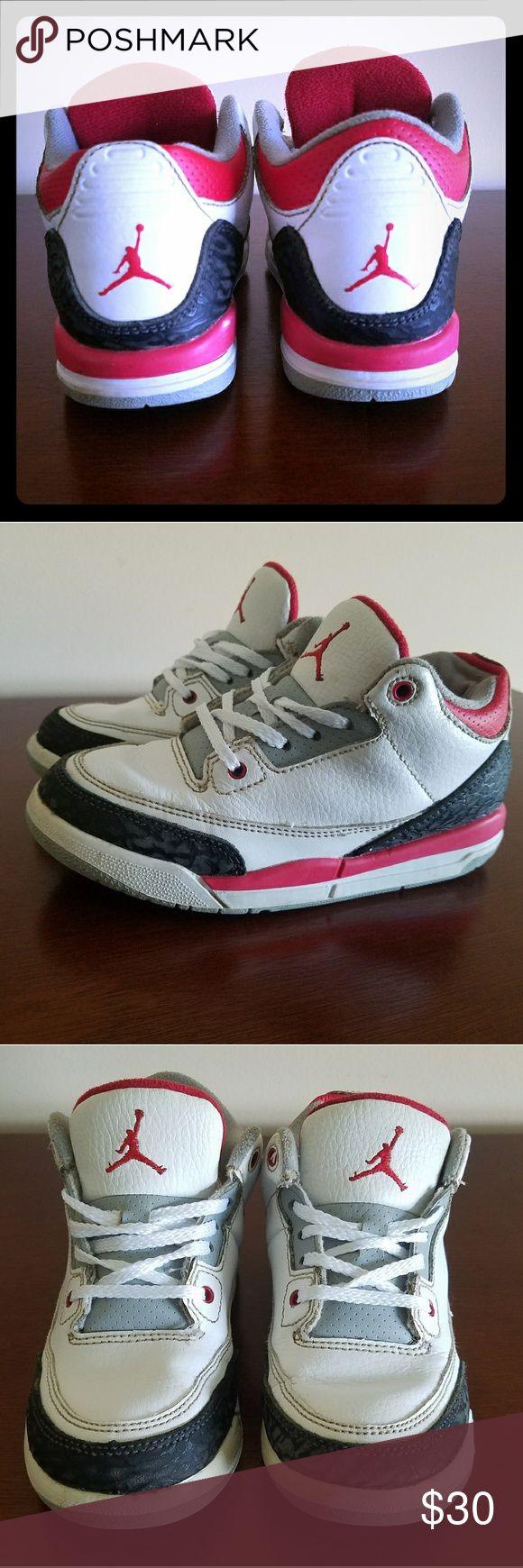 Nike Jordan kid's sneakers Jordan kid's sneakers size 12 C circa 2013. Red, white, black and gray. Very good condition. Jordan Shoes Sneakers