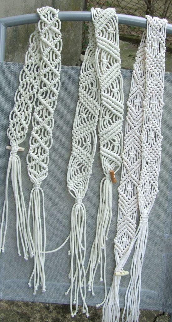 macrame patterns- belts/ bracelets