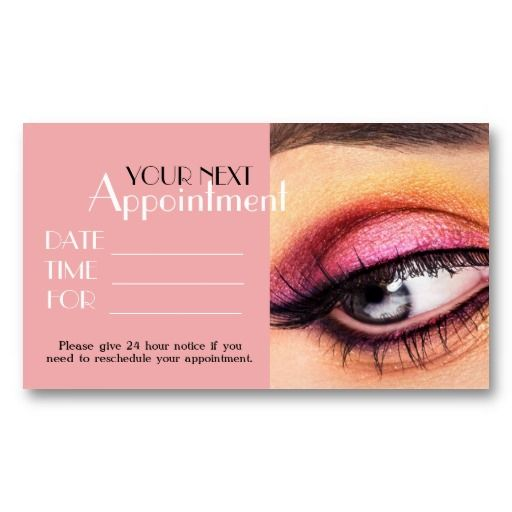 17 best 24 hour business cards images on pinterest business cards appointment card makeup artist salon cosmetology business card colourmoves