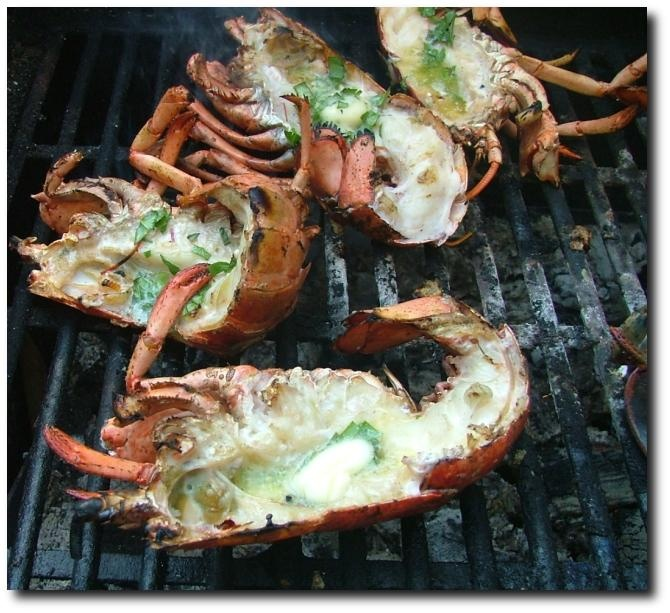 Crayfish braai. A South African take on the BBQ.