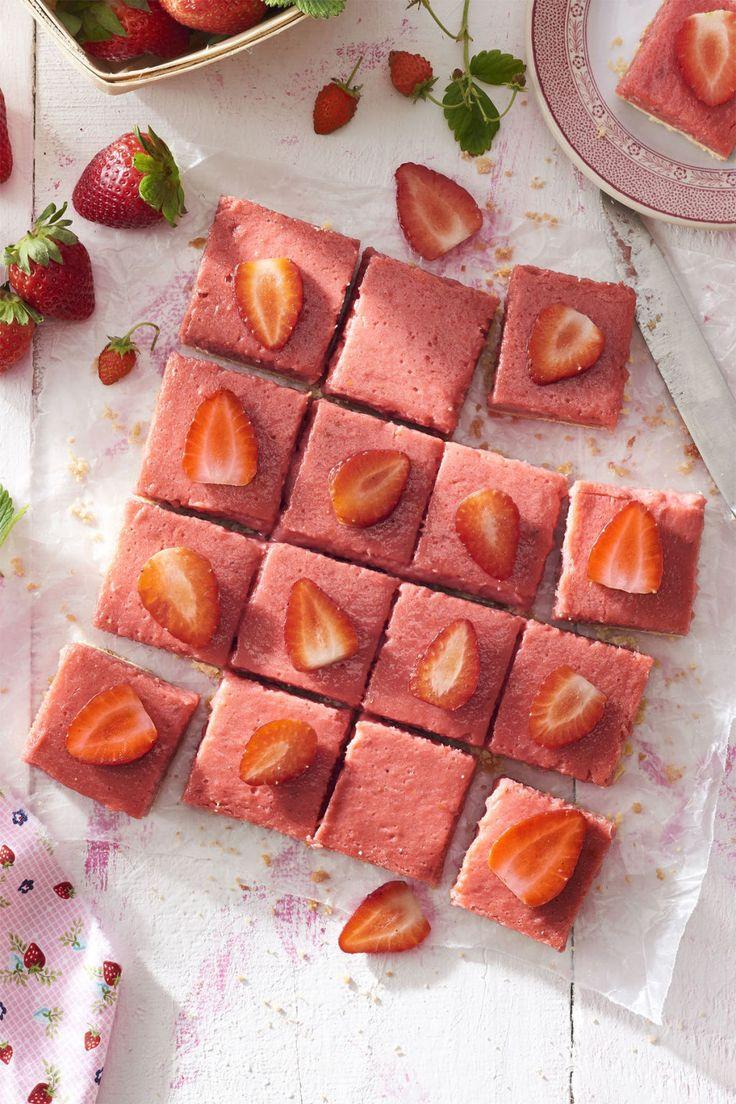 Strawberry Rhubarb Shortbread Bars:  This easy strawberry-rhubarb bar recipe will get your taste buds ready for spring.