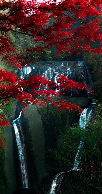 Fukuroda Falls in Ibaraki, Japan  photo: Shiruchi on Flickr
